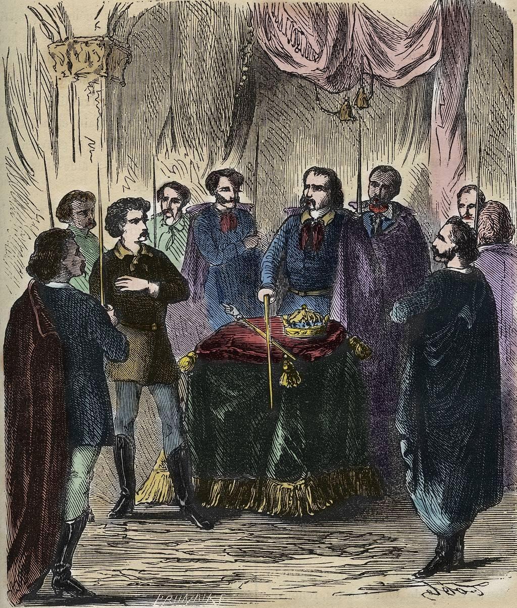 Una representación del siglo XIX de un ritual de iniciación Illuminati. En realidad, quedan escasos detalles sobre la verdadera naturaleza de la ceremonia.