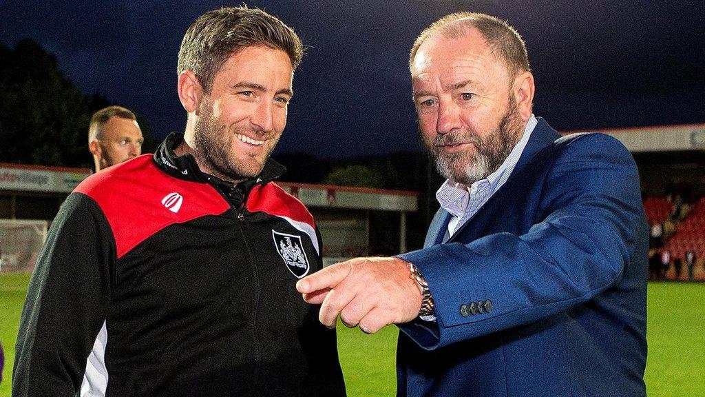 Gary Johnson: Torquay boss aims to grow links with son Lee's Bristol City