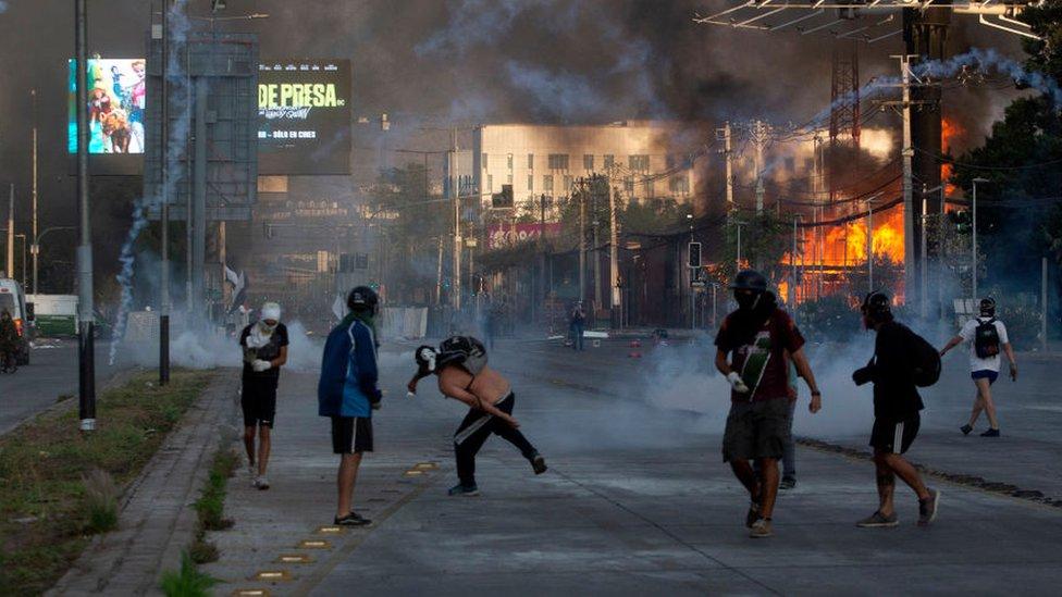 violencia en calles de santiago