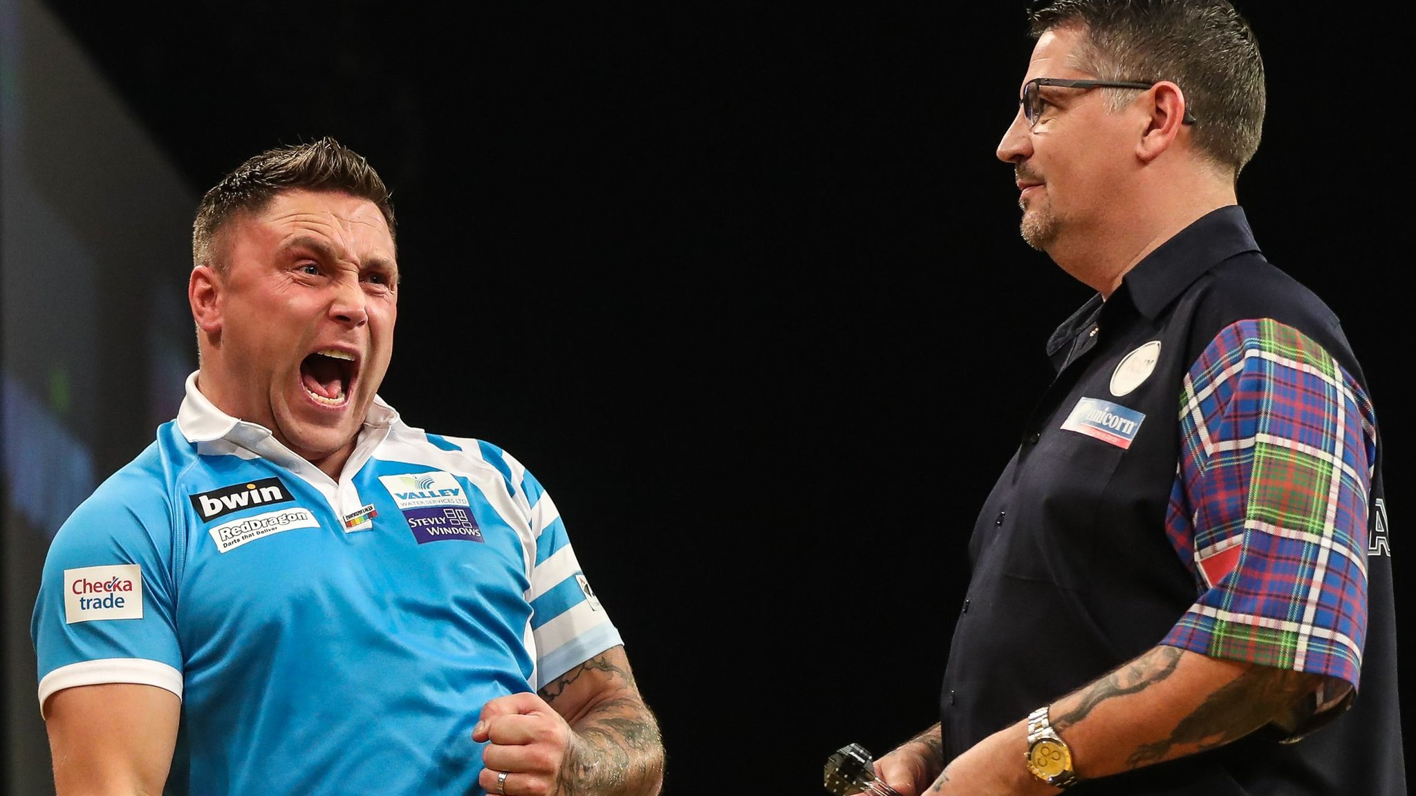 Grand Slam of Darts: Gerwyn Price beats Gary Anderson in bad-tempered final