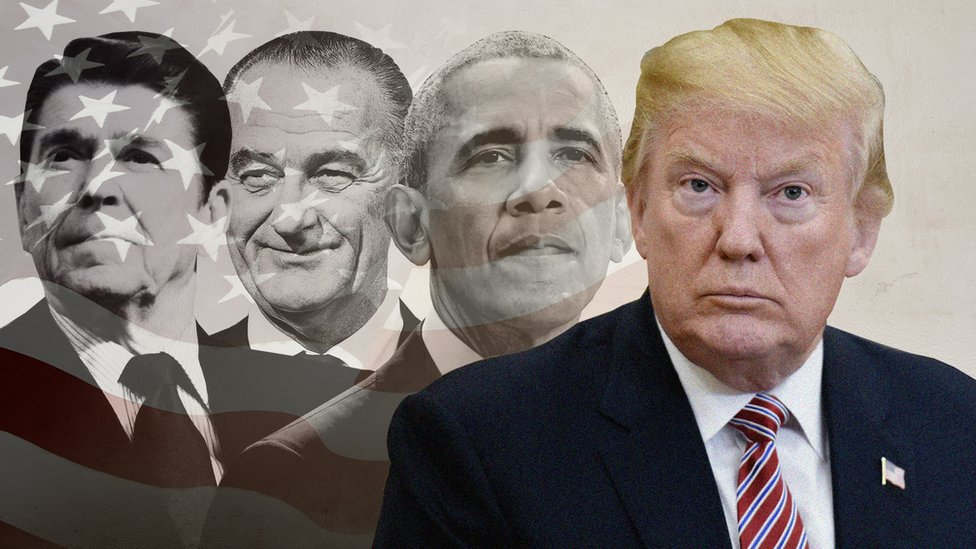 Tramp u društvu Regana, Džonsona i Obame