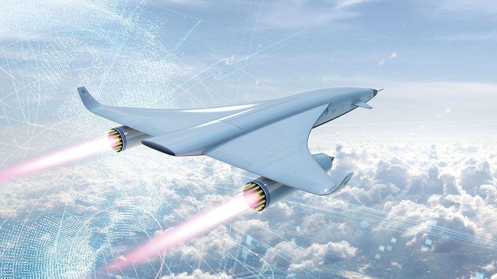 Ilustración de una aeronave hipersónica de Reaction Engines.