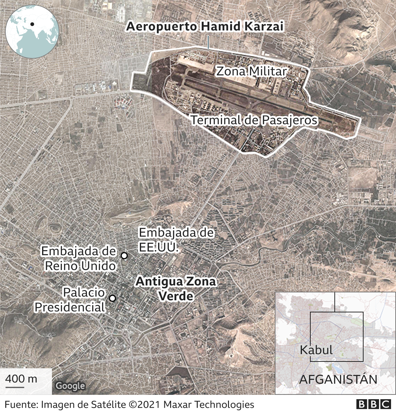 Mapa de Kabul