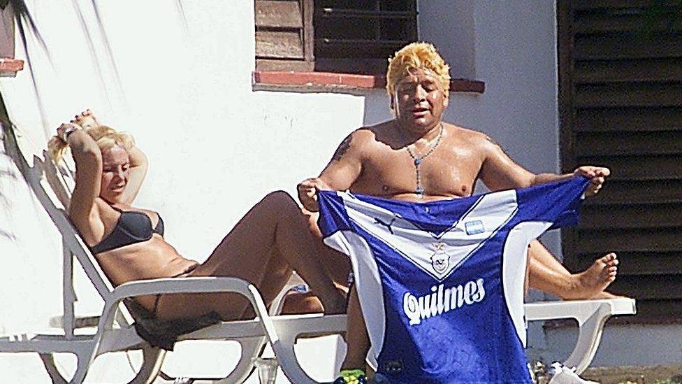 Maradona en Cuba.