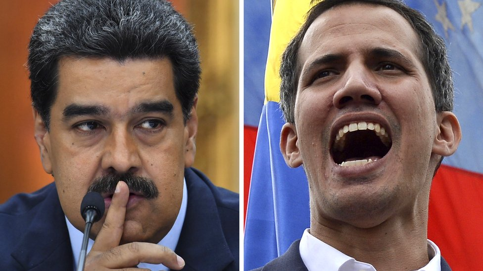 Venezuelan President Nicolás Maduro and opposition leader Juan Guaidó