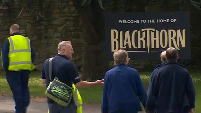 Workers at Shepton Mallet Cider Mill