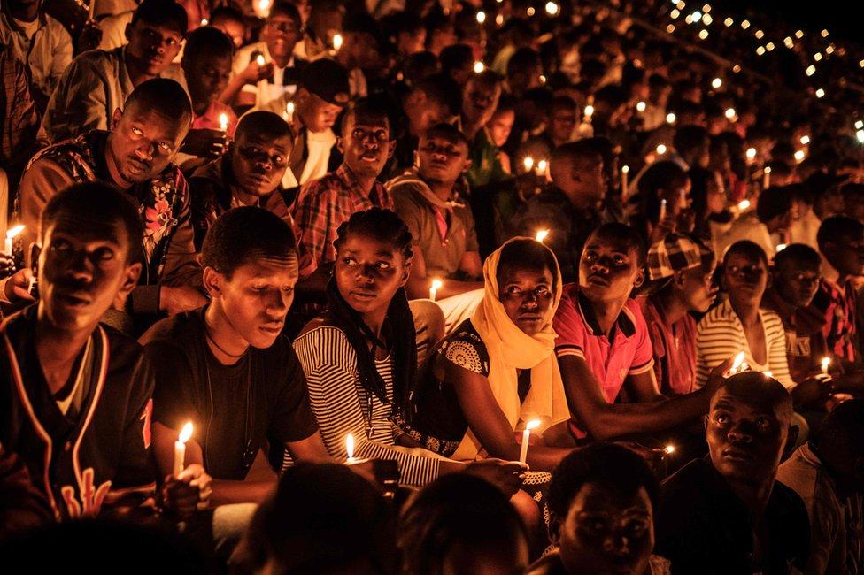 Vigil rwandan genocide