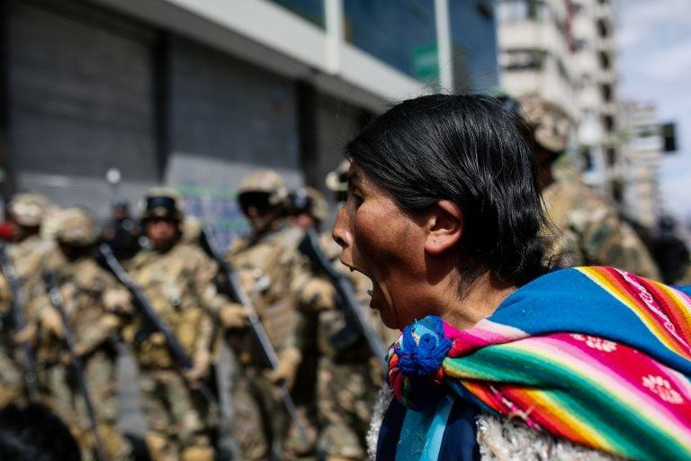 protestas a favor de Evo Morales