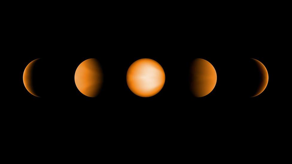 Ilustración de diferentes posibles vistas del exoplaneta WASP-121B