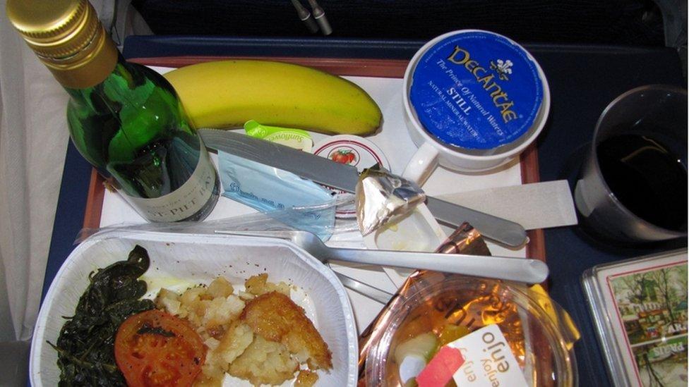 Egypt Air flight breakfast