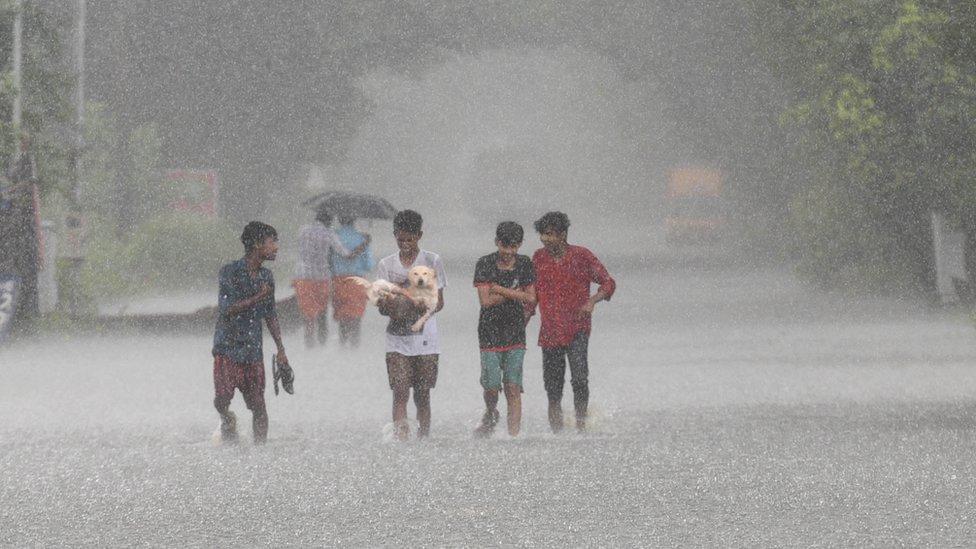 Lluvia en India