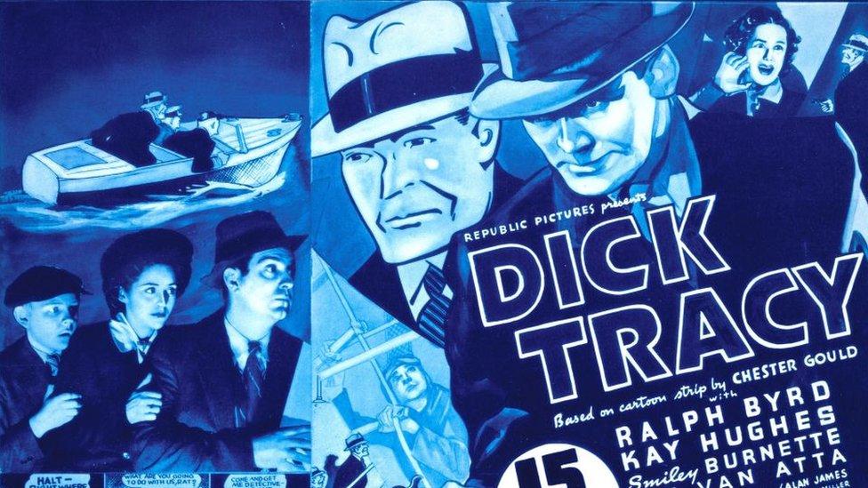 Poster de una película de Dick Tracy