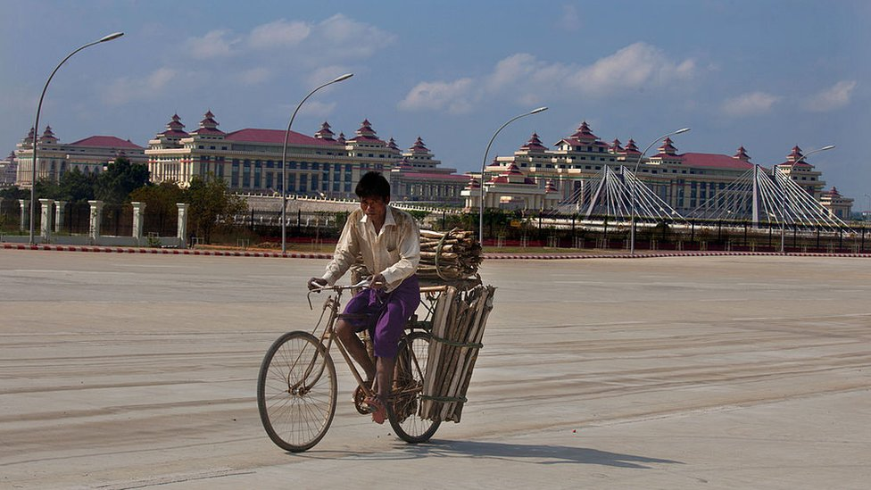 Myanmar's recently built capital city, Naypyitaw