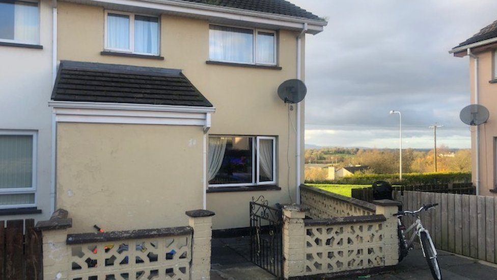 The house at Trasna Way in which the attack happened