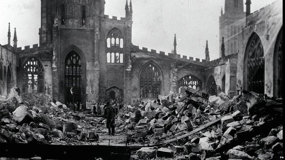 The bombed cathedral