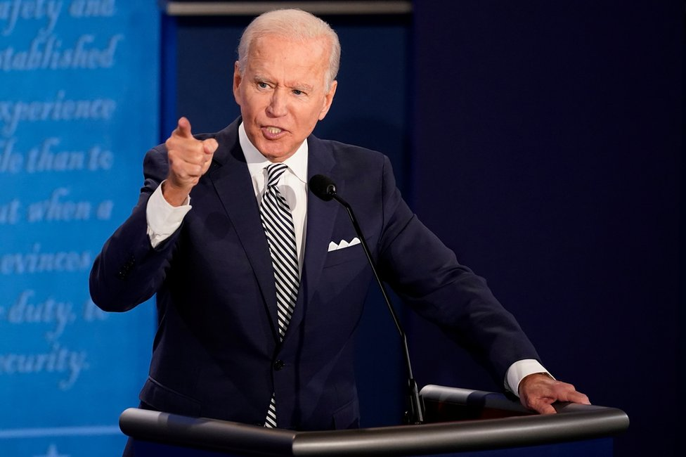 Us Election 2020 First Trump V Biden Debate In Pictures Bbc News