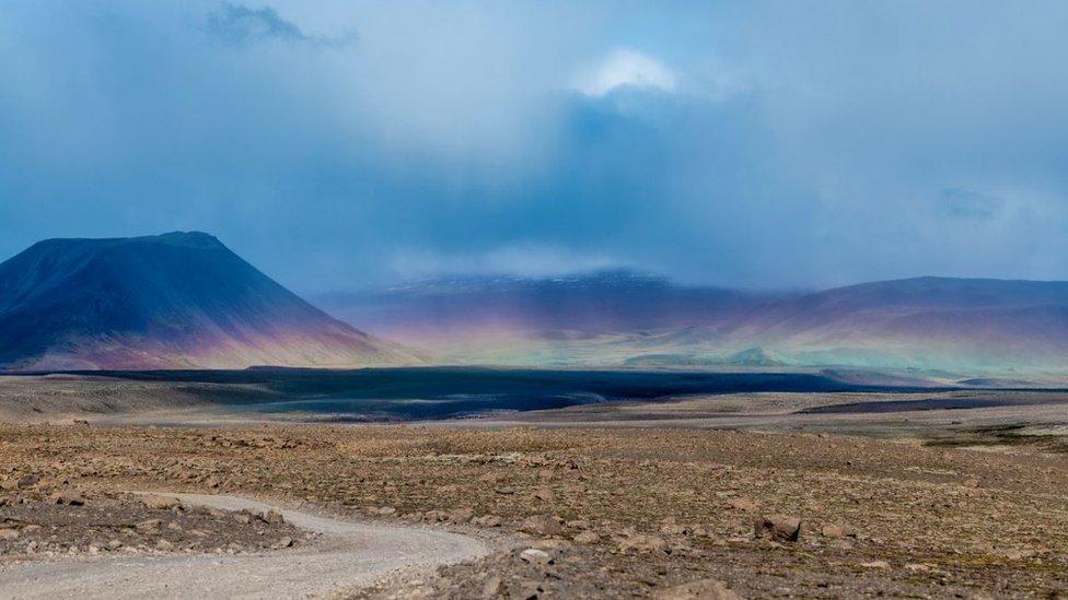 El volcán Ok en Islandia, donde yacía el glaciar Okjokull