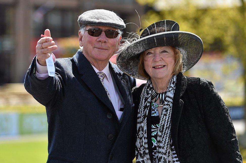Gay Byrne and his wife Kathleen Watkins in 2015