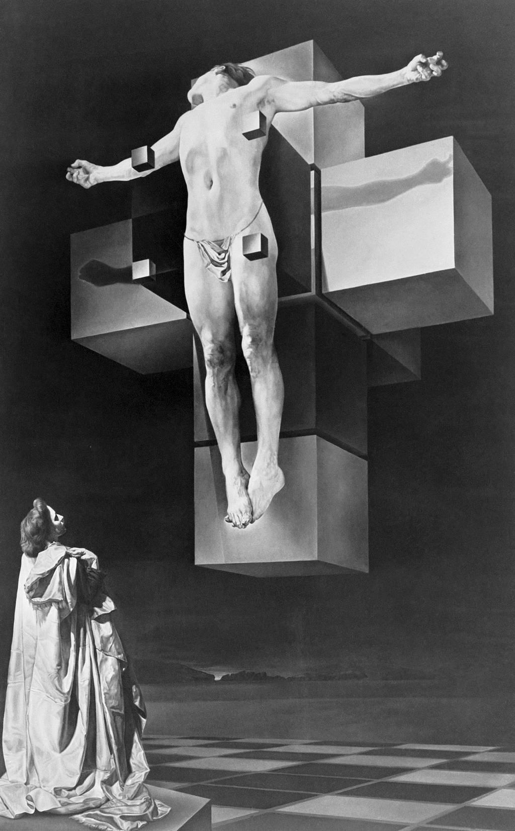 Crucifixión (Corpus Hypercubus), 1954, del artista español Salvador Dalí.