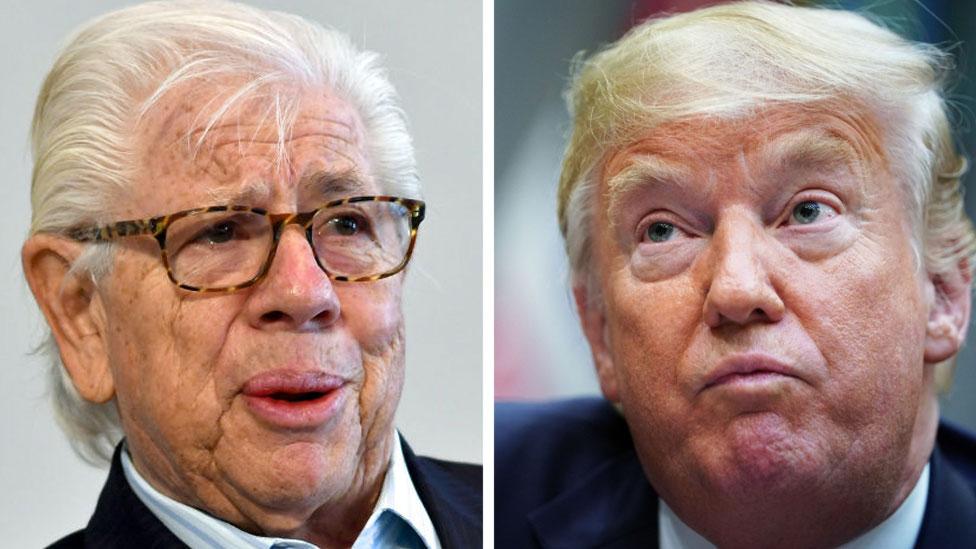 Composite image of Bernstein and Trump