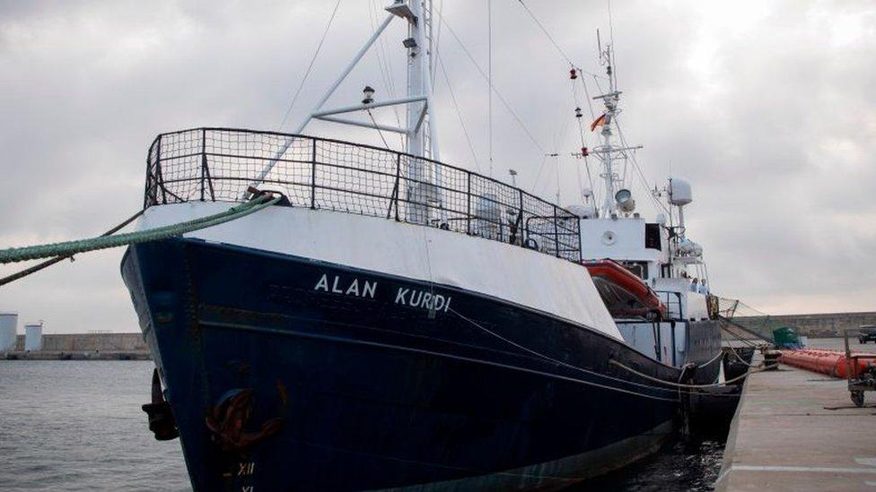 El barco de rescate Alan Kurdi