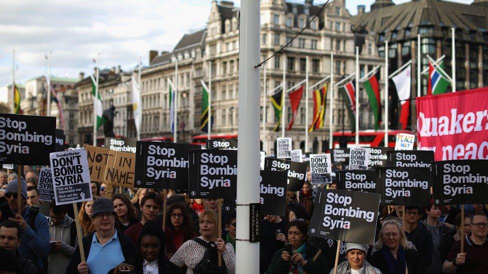 تظاهرة لوقف الحرب