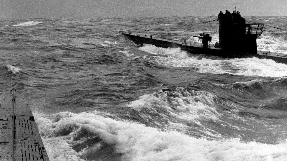 Submarino alemán cerca de Nueva York, Estados Unidos.