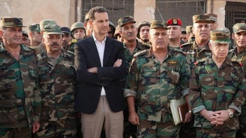 Esad İdlib'de