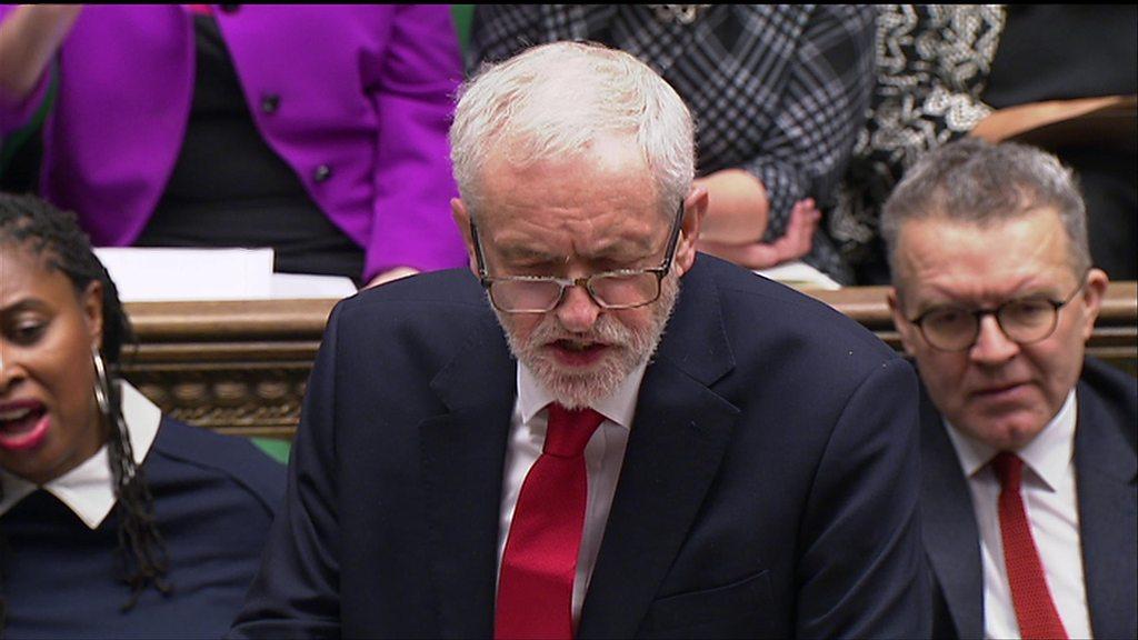 Jeremy Corbyn attacks Theresa May at PMQs