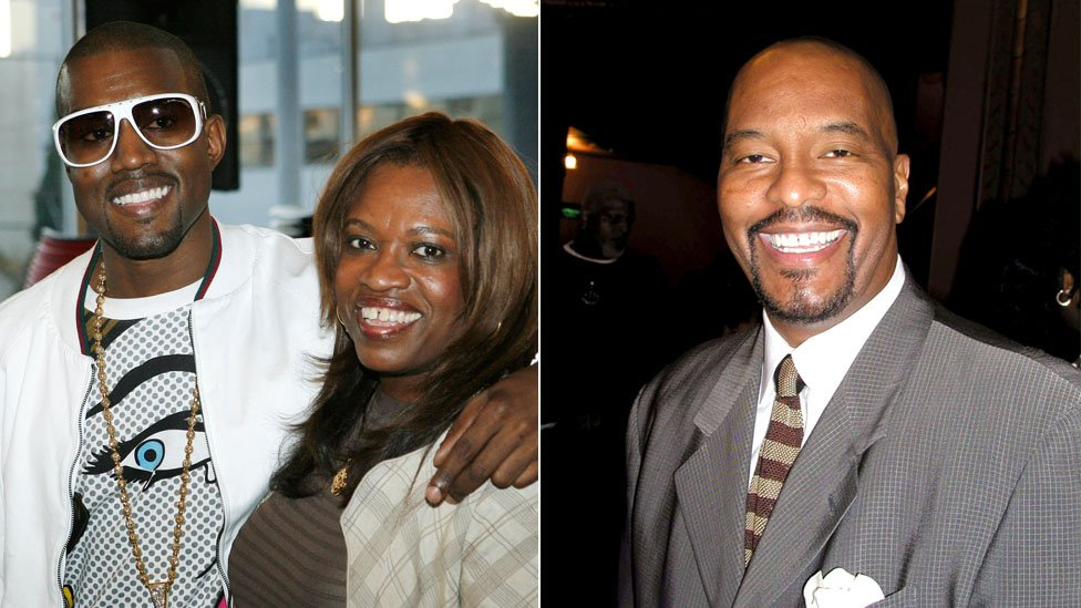 Kanye and Donda West, and Dr Jan Adams