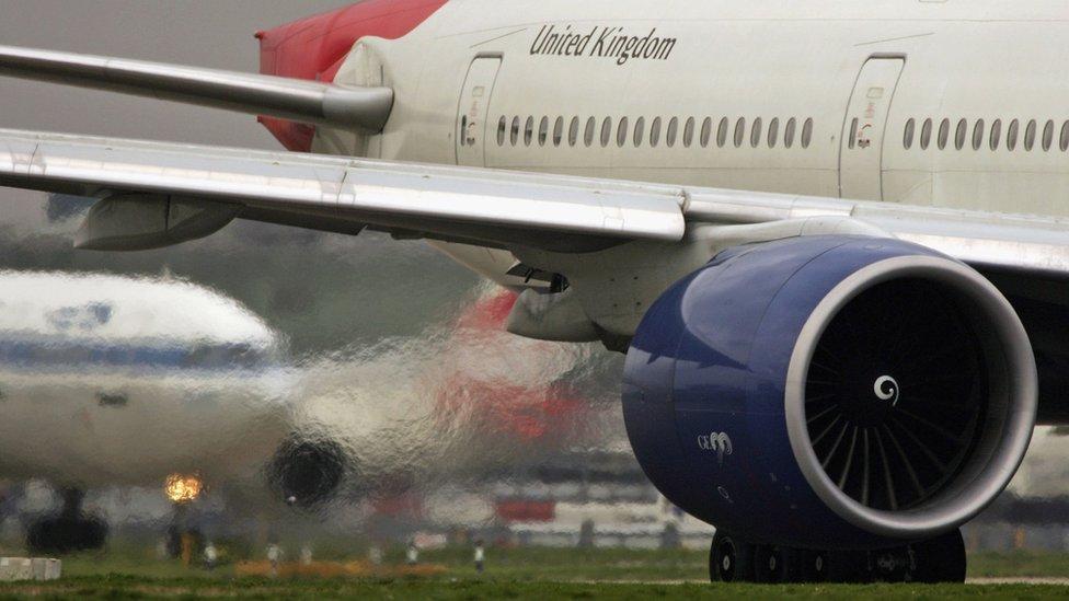 Jet engine fumes