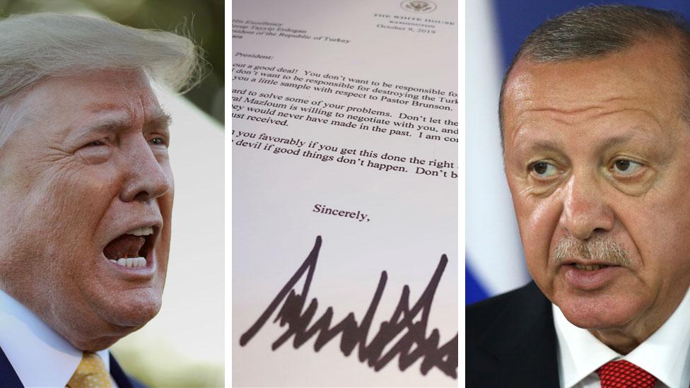 Эрдоган выкинул письмо президента США. Трамп писал ему: