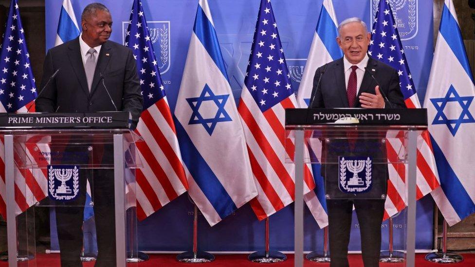 İsrail Başbakanı Binyamin Netanyahu, Pazartesi günü ABD Savunma Bakanı Lloyd Austin ile görüştü.