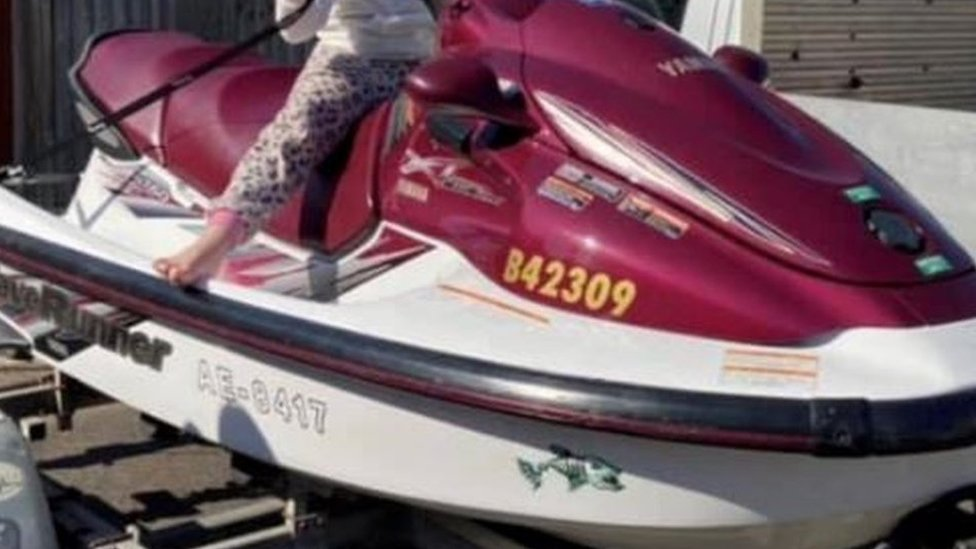 Water scooter found off Lymington