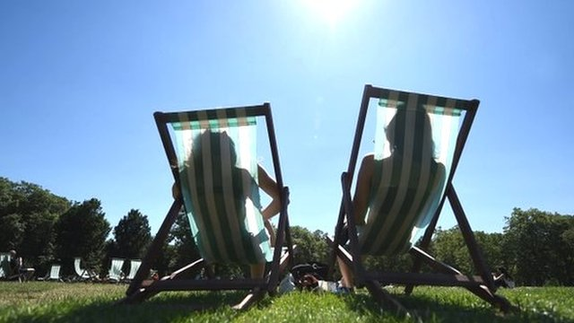 People in deckchairs