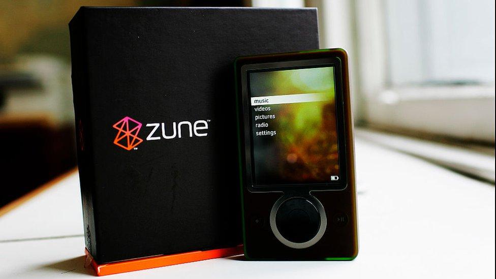 El Zune de Microsoft nunca fue una competencia para los iPod de Apple.