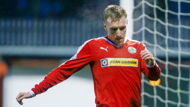Cliftonville goal scorer Chris Curran