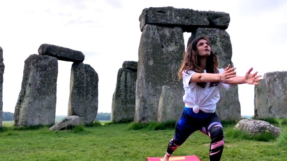 Yogis descend on Stonehenge ahead of International Yoga Day