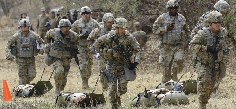 Američki vojnici treniraju u Dongdučeonu, Južnoj Koreji 2018. godine