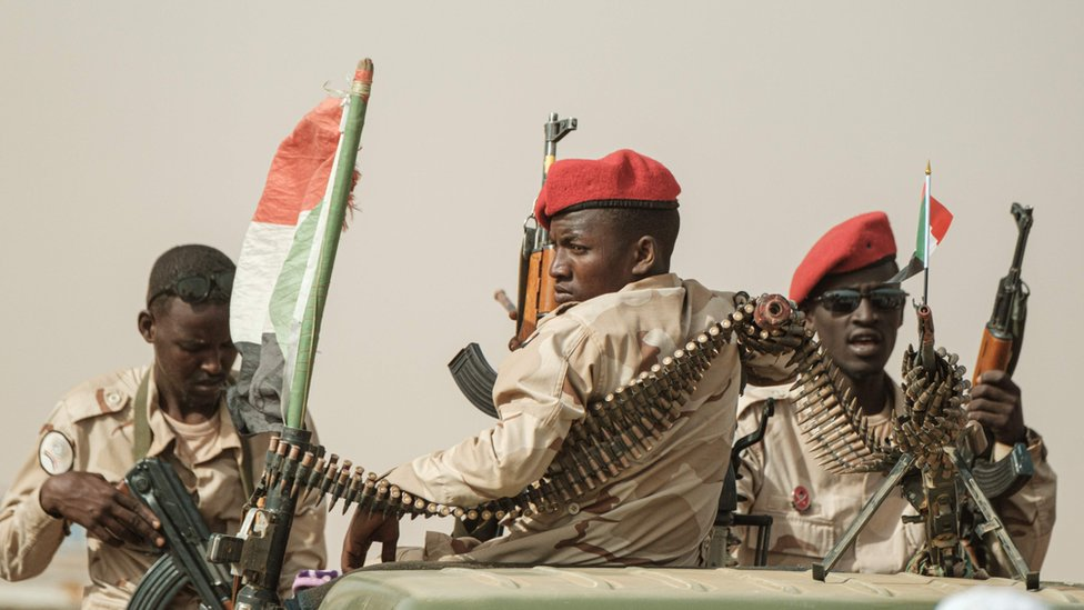 RSF soldiers in Sudan