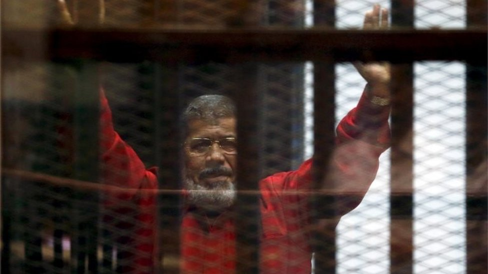 Mohammed Morsi in court 18/06/16