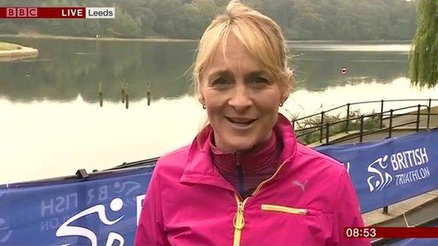Louise Minchin talks to camera on BBC Breakfast