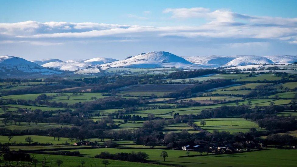 Shropshire está lleno de ondulados y pintorescos paisajes.