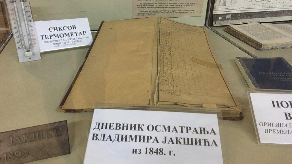 """Beleške Vladimira Jakšića se čuvaju u muzeju Centra za klimatologiju """"Milanković"""""""