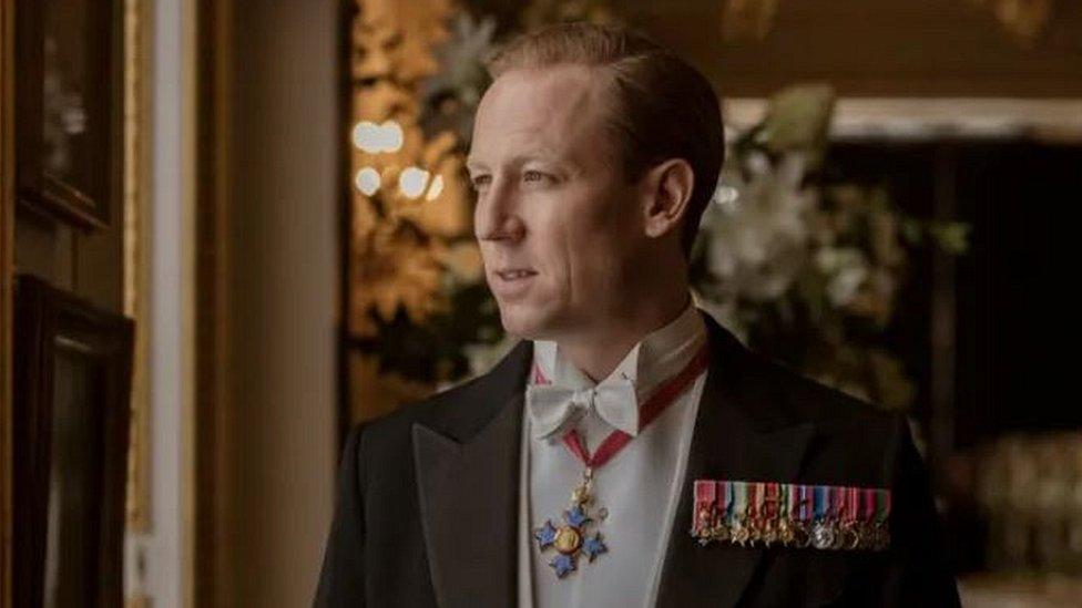 Tobias Menzies at Prince Philip