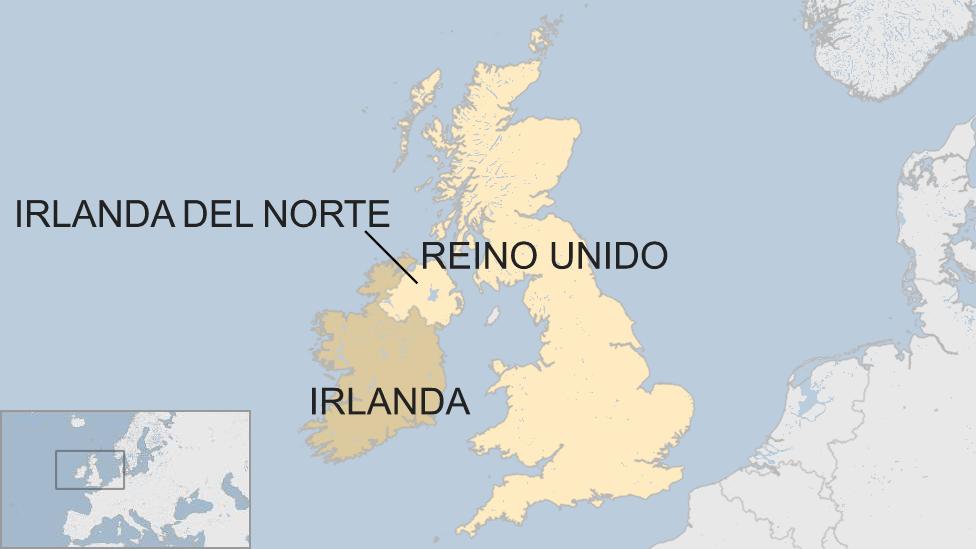 Mapa de Irlanda del Norte