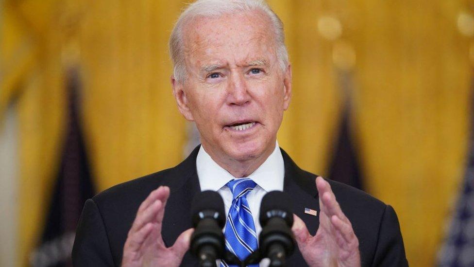Biden en la Casa Blanca el pasado 11 de agosto.