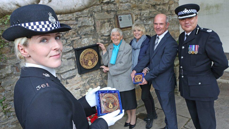 Unveiling of memorial plaque