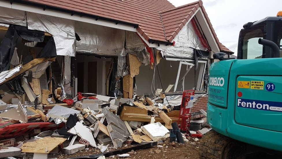 Builder charged over £4m new homes digger destruction