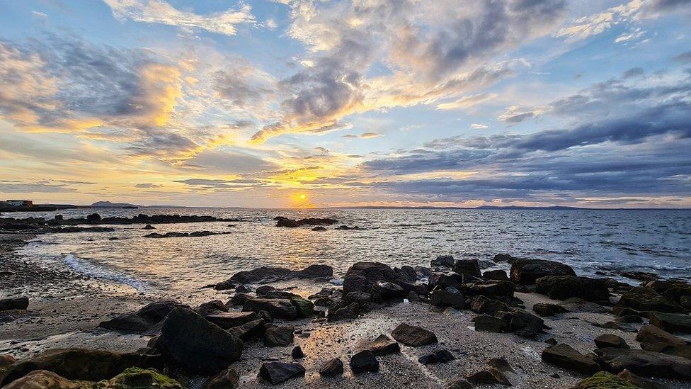 Sunset off Port Seton beach